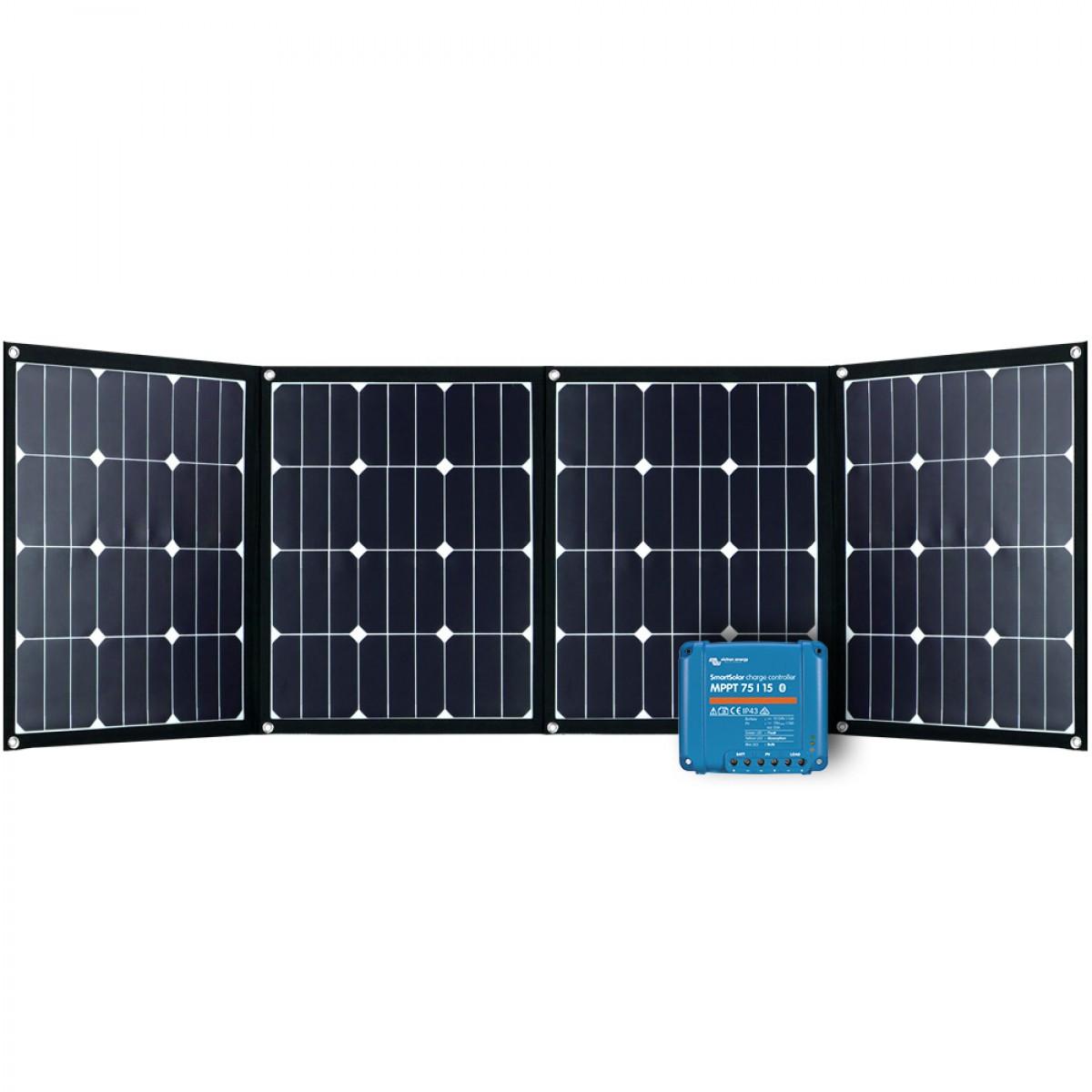 Faltmodul 4x40Wp mit MPPT Solarladeregler 4