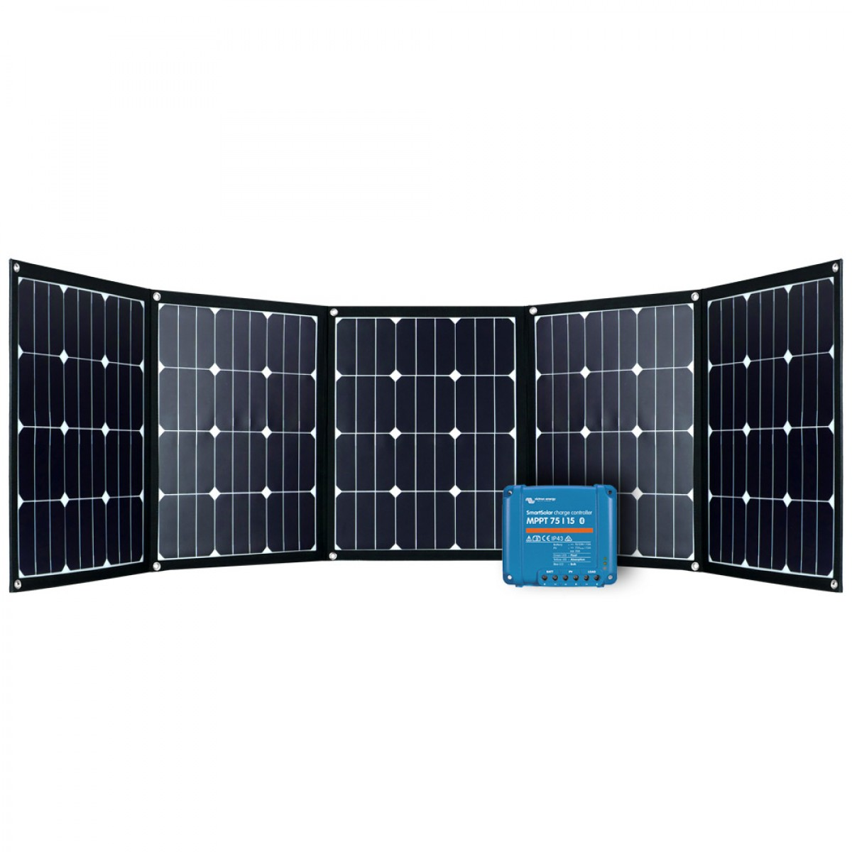 Faltmodul 5x40Wp mit MPPT Solarladeregler 1
