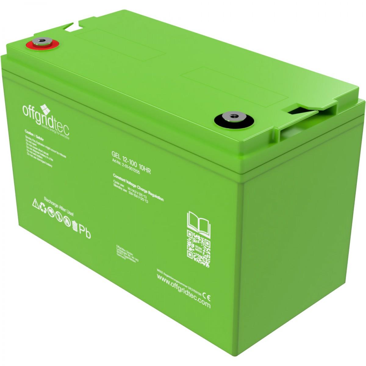 Offgridtec Gelbatterie 12V 100Ah 2