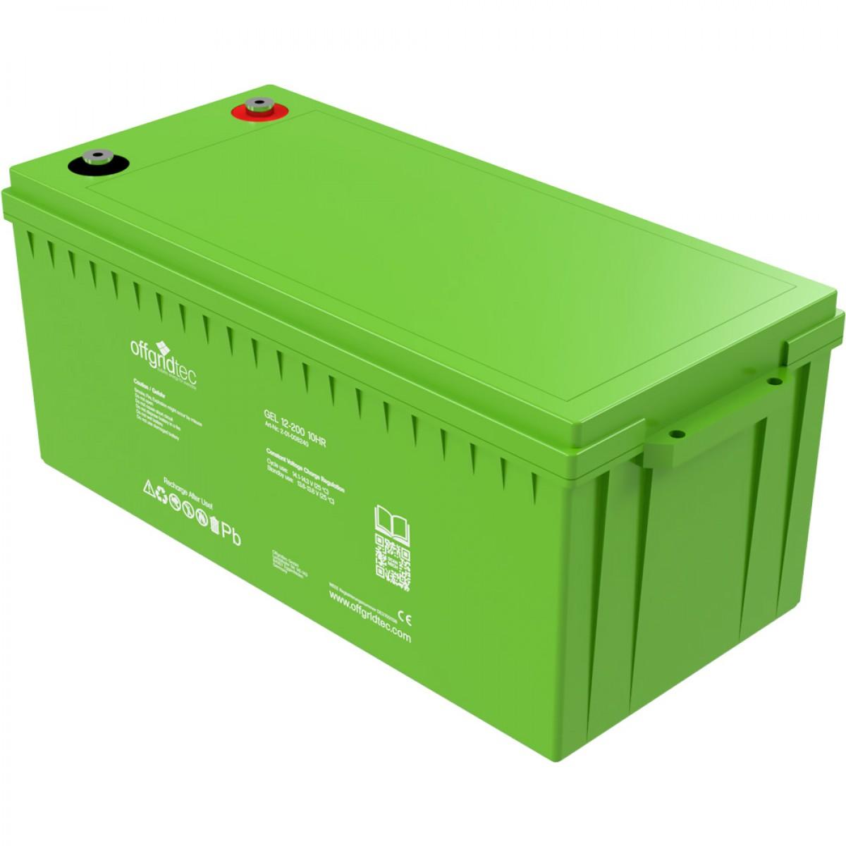 Offgridtec Gelbatterie 12V 200Ah 4