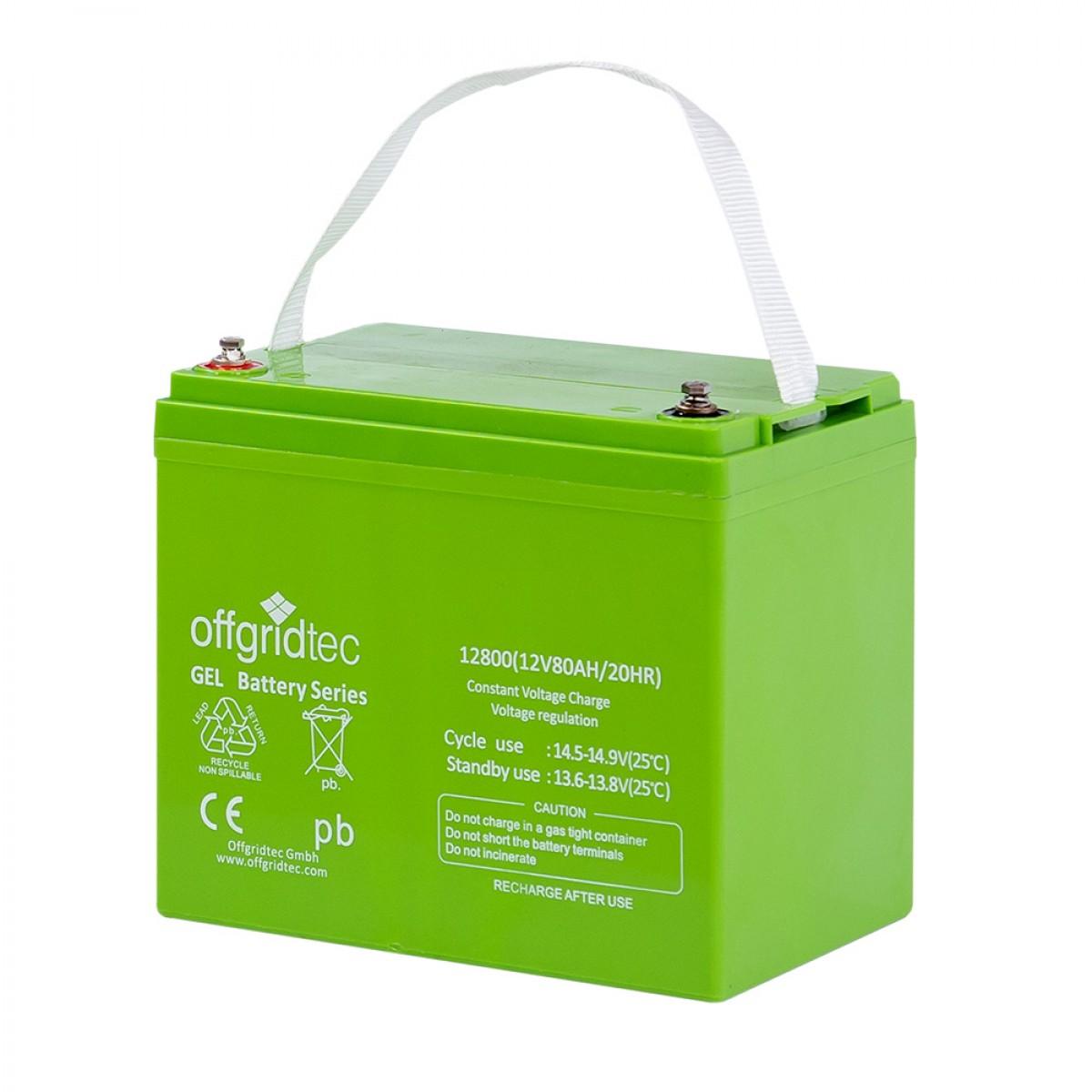 Offgridtec Gelbatterie 12V 80Ah 3