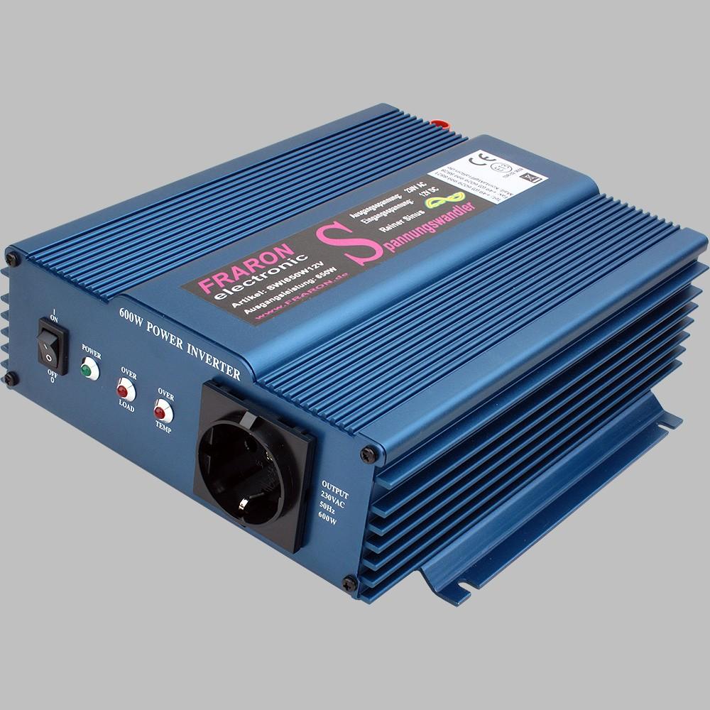 12V Wechselrichter reiner Sinus 650W mit Fernbedienung 4
