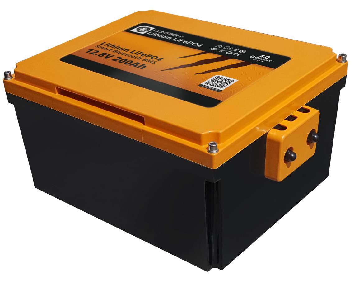 Liontron LiFePO4 Smart Wohnmobil Untersitz Batterie 12.8V 200Ah 4